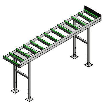 Transport of elements - WEGOMA roller conveyor for transporting elements: RB3000